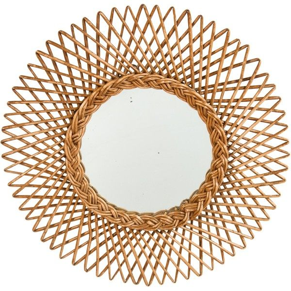 Pre-owned Mid-Century French Sunburst Wall Mirror ($595) ❤ liked on Polyvore featuring home, home decor, mirrors, brown, bamboo home decor, sunburst wall mirror, brown mirror, bamboo mirror and sun shaped mirror