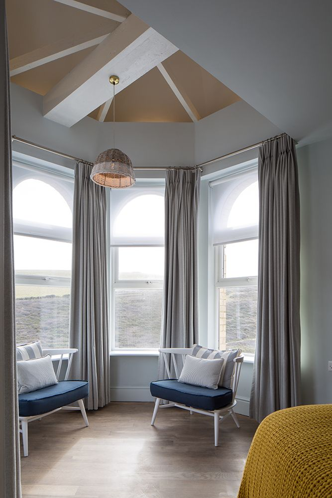 Room 27's double height turret - Watergate Bay Hotel