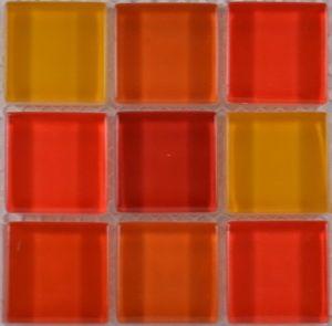 Product ID:OPUS7 Miki 1X1 Glass Blend Lava Sizzle Mosaic #Profiletile