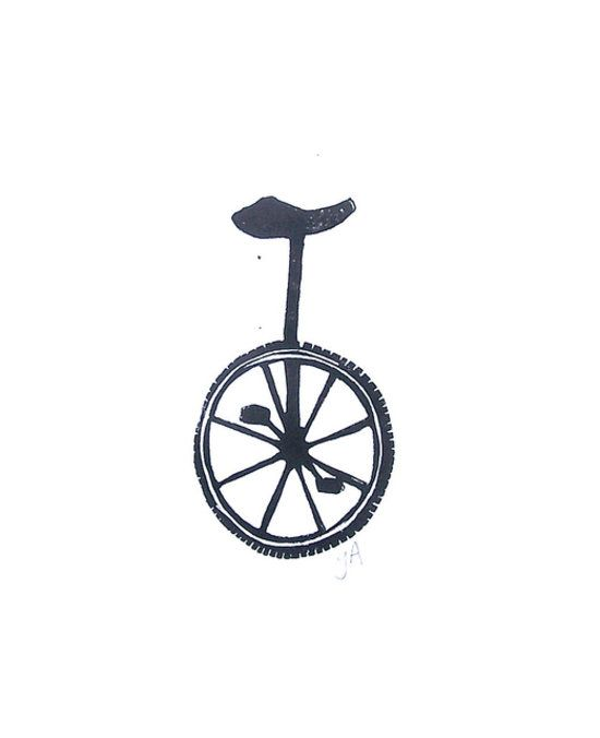 Fit for the minimalist home, this unicycle block print ($20) is simple yet quirky.