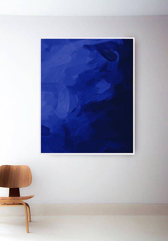 Abstract Blue Painting Dark Blue Abstract Print Large Abstract Art Navy Wall Art Modern Wall Abstract Art Painting Blue Abstract Painting Abstract Painting