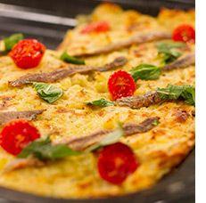 Aartappel pizza