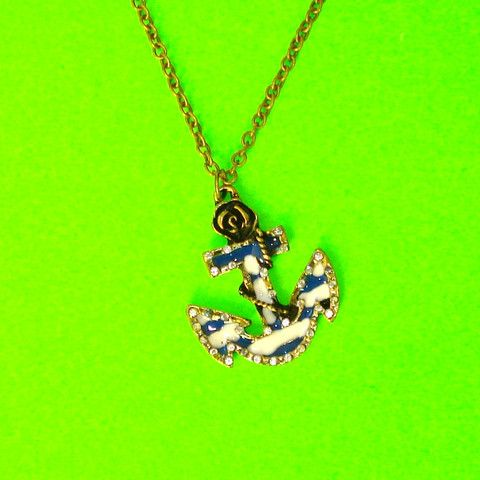 Anchors Away Necklace - Mookie Designs