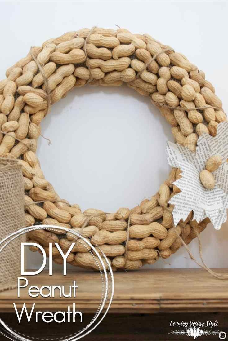 Pinning To Make This Easy DIY Peanut Wreath Is Perfect Fall Decor And