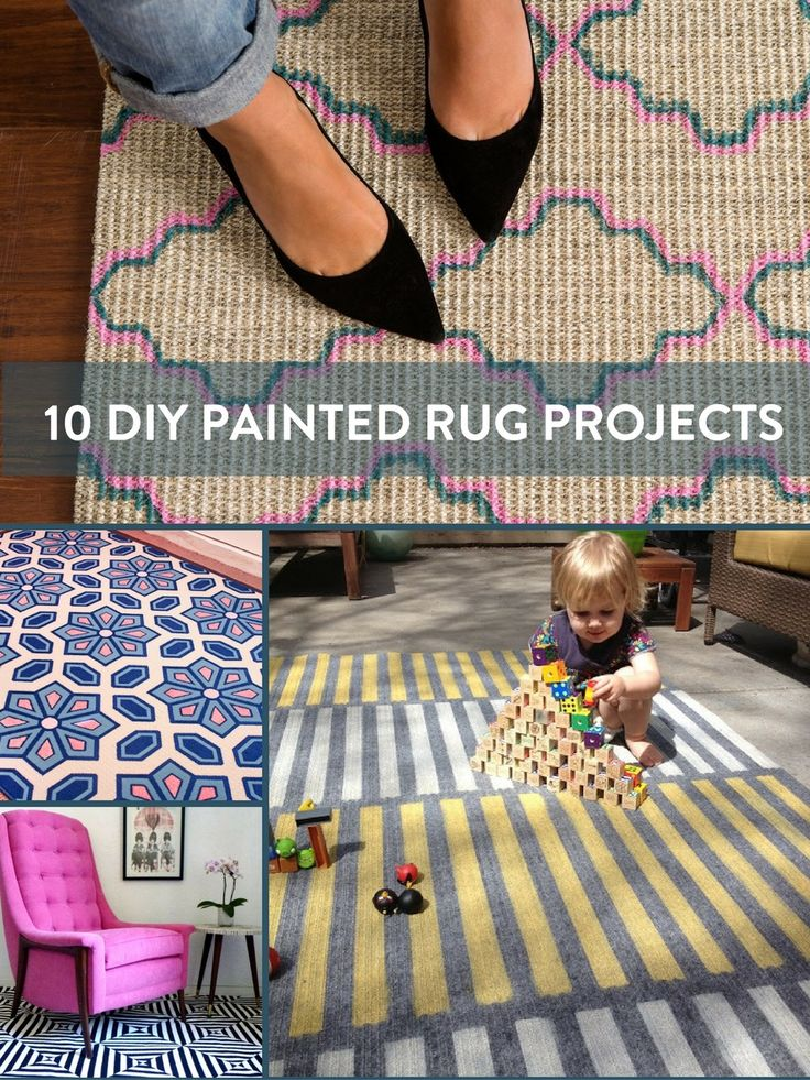 Check out this roundup of DIY Painted Rug Projects