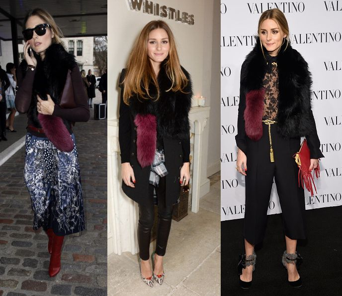 The Olivia Palermo winter style guide to wearing a faux fur scarf from day to night - LaiaMagazine