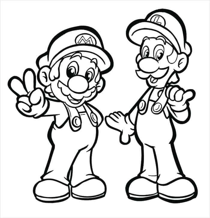 Coloring Pages Of Mario And Sonic