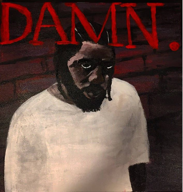 Kendrick Lamar Album Cover 'Damn' by SpacesbyDee on Etsy