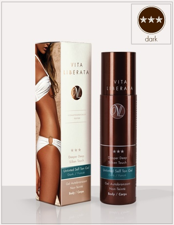 Deeper Deep Silken Touch: Body. Untinted Self Tan Gel Dark Body | Vita Liberata