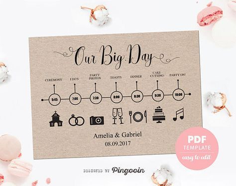 The 25+ best Wedding timeline template ideas on Pinterest - timeline template