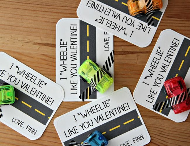 """""""I Wheelie Love You"""" - Kids Valentine Cards // Inspired by This"""