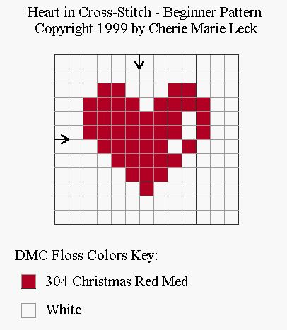 Learn How to Cross-Stitch with this Simple Heart Pattern