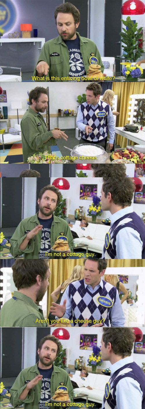 """And when he encountered cottage cheese for the first time. 