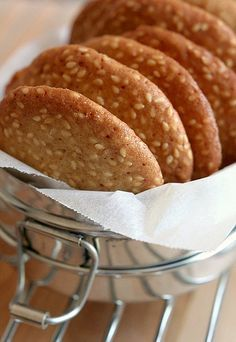 Biscuits au sésame …