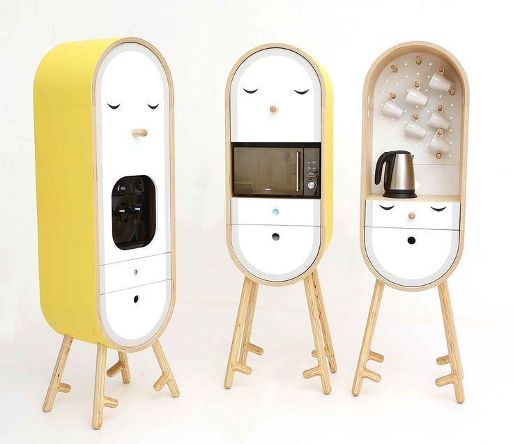LO-LO The Capsular Microkitchen | Designer: KAFEDRA MEBELI #FurnitureDesign #IndustrialDesign