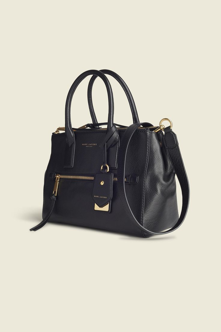"""Structured, durable and sleek. Not only is this tote functional, it features a sophisticated design, complementing any outfit, while keeping all your essentials organized. Carry by the top handles or messenger style for a hands free, effortless look.bDimensions/b13"""" L x 5 3/4"""" W x 10"""" H(32 1/2 cm x 14 1/2cm x 25cm)bFeatures/b•Double top handles, detachable adjustable crossbody strap with clip hardware•Zip top closure, with snap gusset ..."""