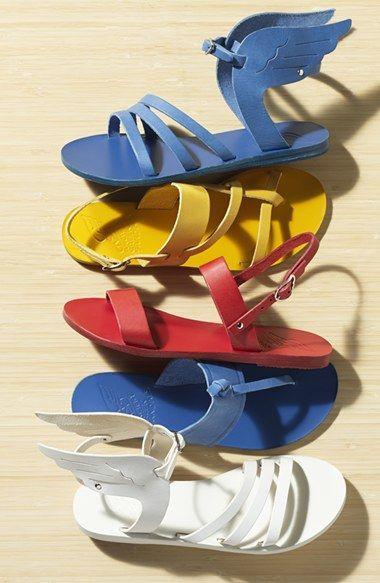+ bright summer sandals +