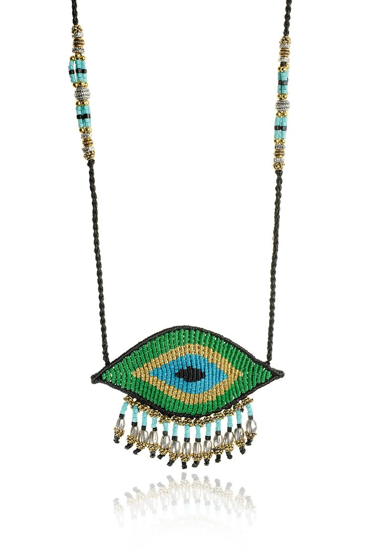 Zoe Kompitsi | Green Evil Eye Necklace