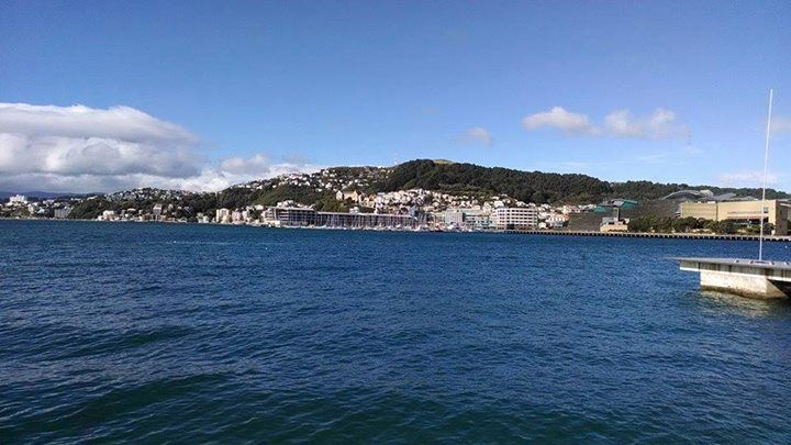 Wellington waterfront: the view from Capital E!