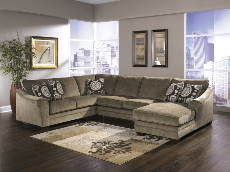 Cosmo - Marble 3 Pc. RAF Chaise Sectional | 36901/17/34/66 | Sectionals | Waterfront Rescue Mission