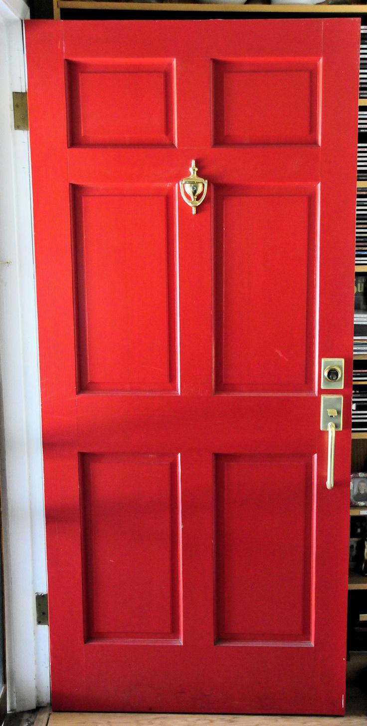 My front door i love red doors front doors pinterest for Red front door