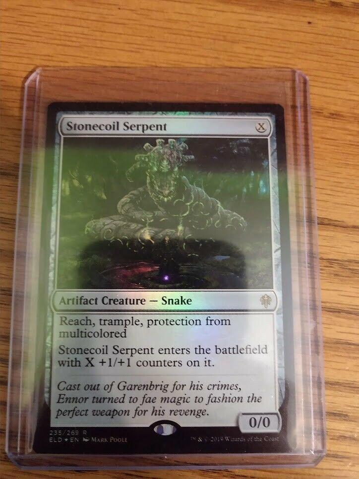 STONECOIL SERPENT X4 Throne Of Eldraine ELD Magic MTG MINT CARD