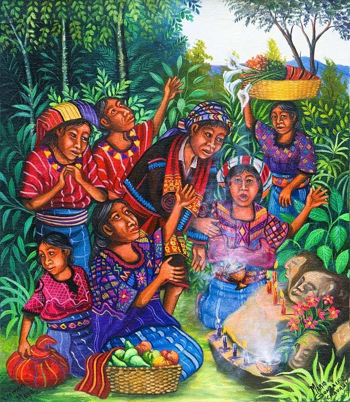 Mario Gonzalez Chavajay Mayan calendar artist Guatemala