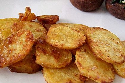 Amerikanische Parmesankartoffeln, im Ofen gebraten