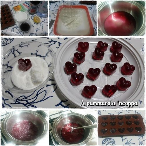 Caramelle gelee al succo di frutta fatte in casa ricetta blog cucina giallo zafferano a pummarola 'ncoppa amarene bimby