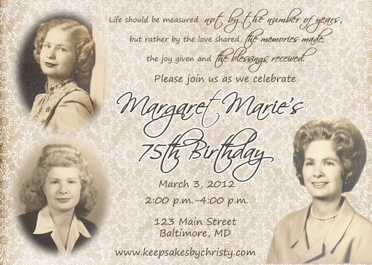 17 Best Ideas About 90th Birthday Invitations On Pinterest Cards 95th