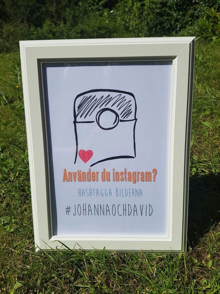 Lagat egna söta skyltar. Bröllop 2016. #johannaochdavid