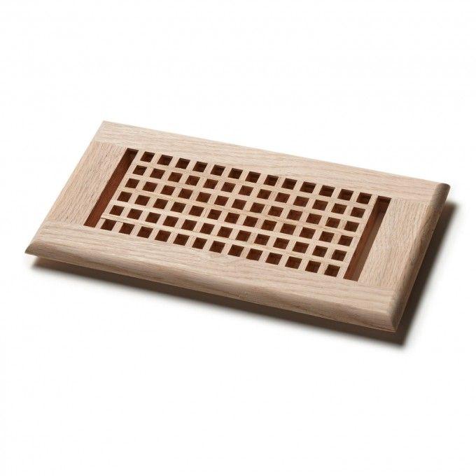 Whittington Mission Wooden Grid Floor Grille Fixtures