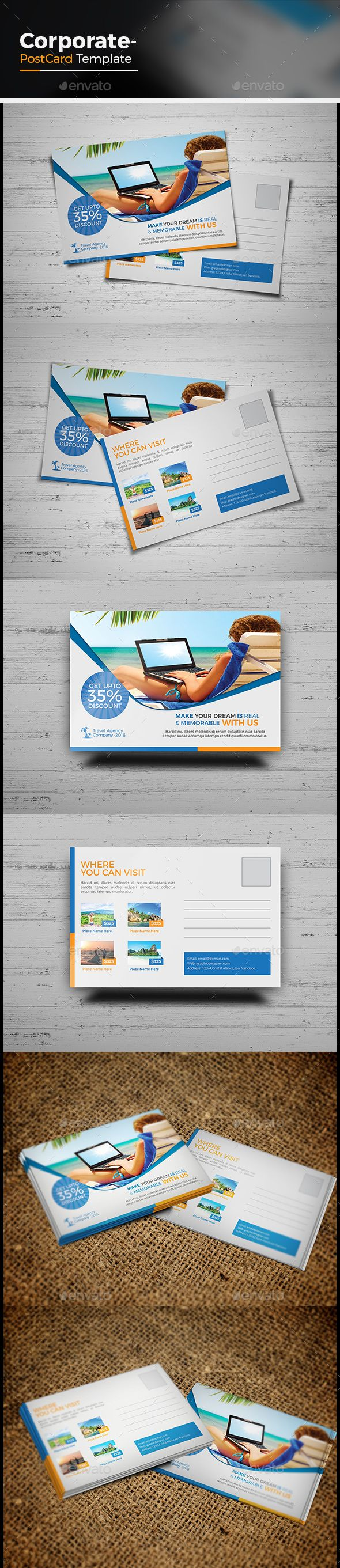 Postcard Template Illustrator. postcard template media templates ...