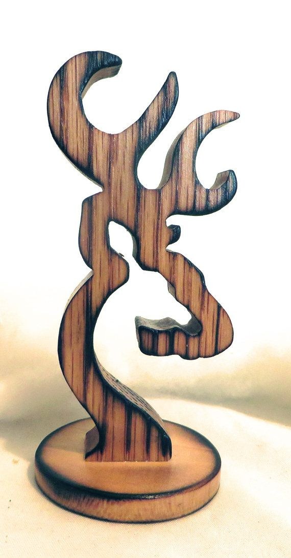 Items similar to Browning Deer Logo Wood Carving Art Standee Display Figure on Etsy