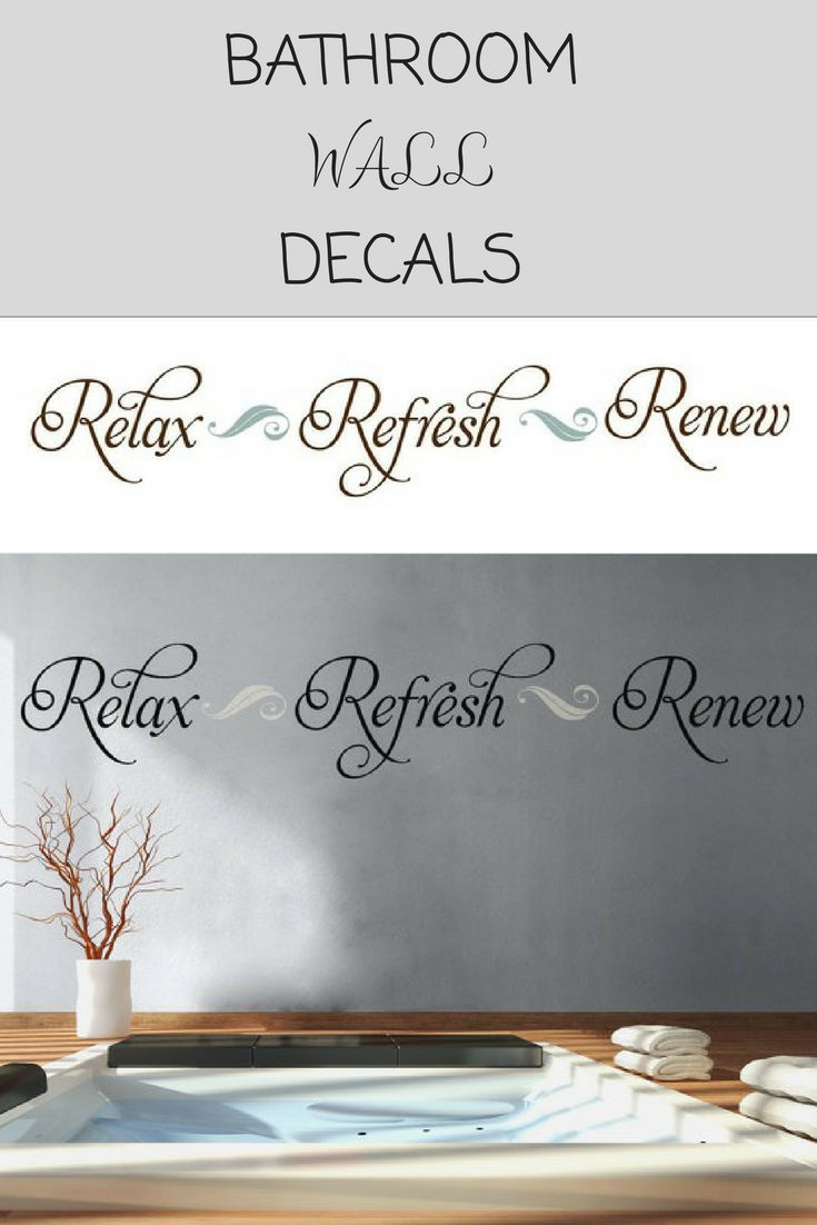 Best 25+ Bathroom wall decals ideas on Pinterest | Wall ...