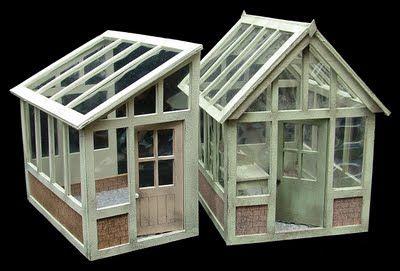 Petite Properties Ltd: Miniatura Preview - 1:24th Greenhouse or 'Lean To' Kits..!