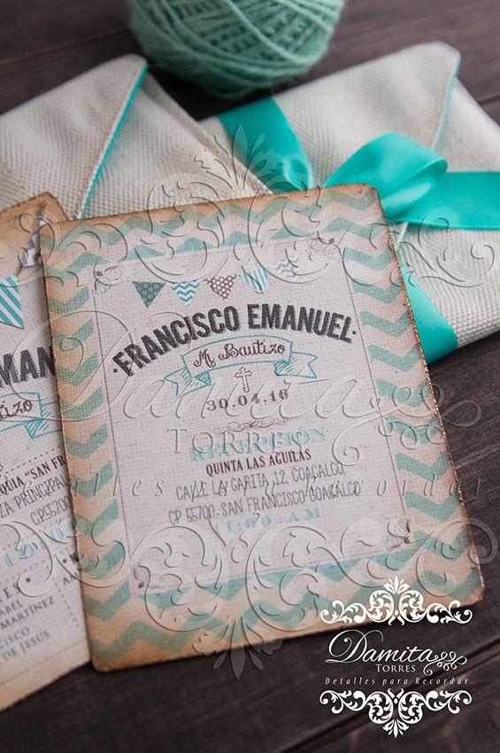 Invitacion Bautizo, invitacion niño, invitation boy, invitation vintage