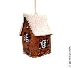 """Купить Колокольчик """"Домик"""" - коричневый, колокольчик домик, керамический колокольчик, колокольчик из керамики, красивый колокольчик"""