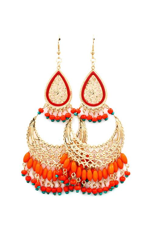 Boho Persimmon Chandeliers on Emma Stine Limited