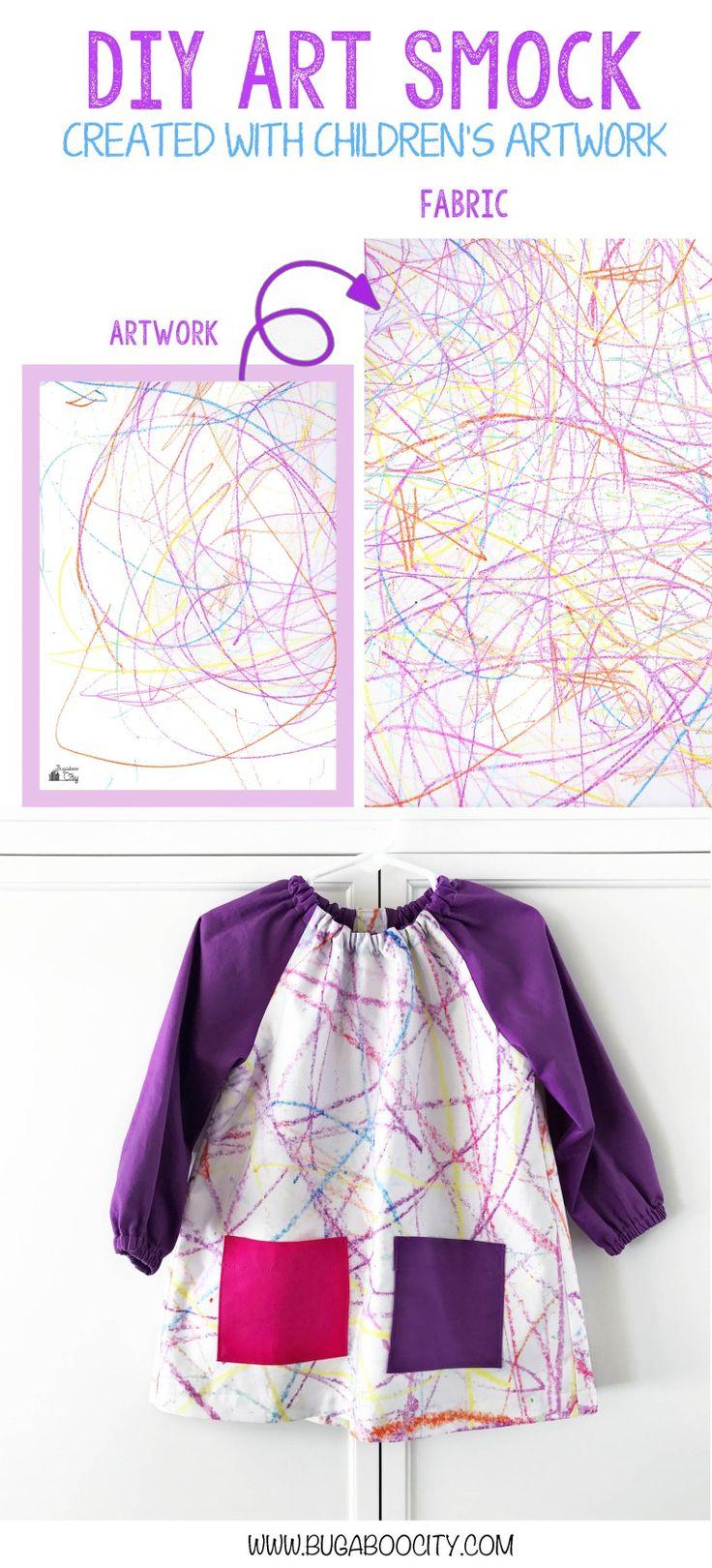 White apron sergio vodanovic english - Diy Art Smock Created With Kid S Artwork