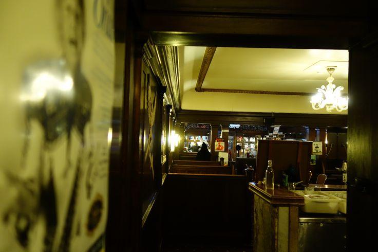 End of the night, Art Deco restaurant. Paragon Cafe - Katoomba, Blue Mountains NSW Australia