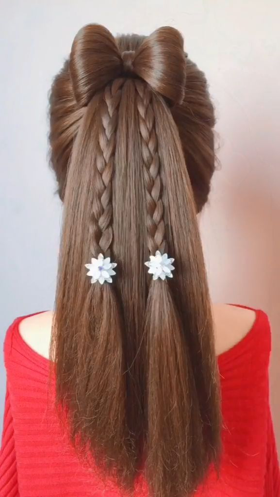 10 Easy And Cute Hairstyles For Long Hair For Girls In 2020 Cute Simple Hairstyles Hair Styles Long Hair Styles