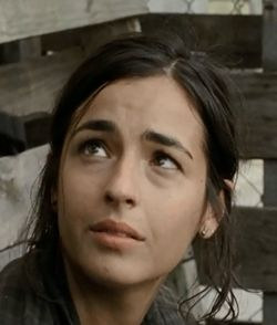 "Alanna Masterson, aka Zoe McCarthy in ""Desert Cantos"" (TSCC S2E15), is now playing Tara Chambler on The Walking Dead. This picture is from TWD's ""Inmates"" S04E10."
