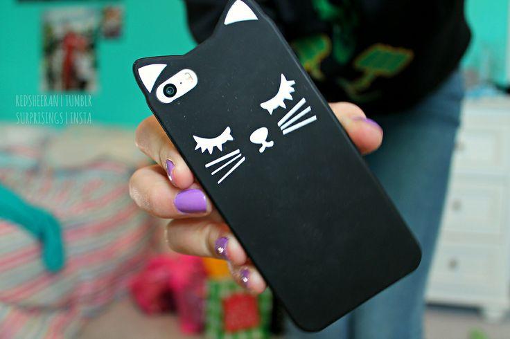 cat iphone case. ♡