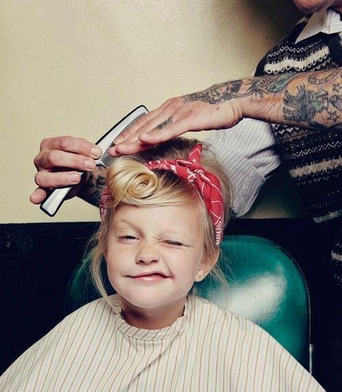 Hair, Kids, Pin Up, style, girl