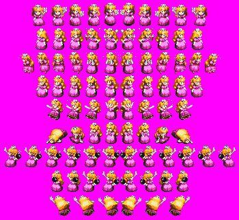 Princess Peach Super Mario Rpg Sprite Sheet