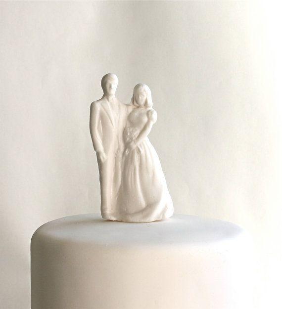 Zucker Braut und Bräutigam Hochzeitstorte von andiespecialtysweets, $39.00