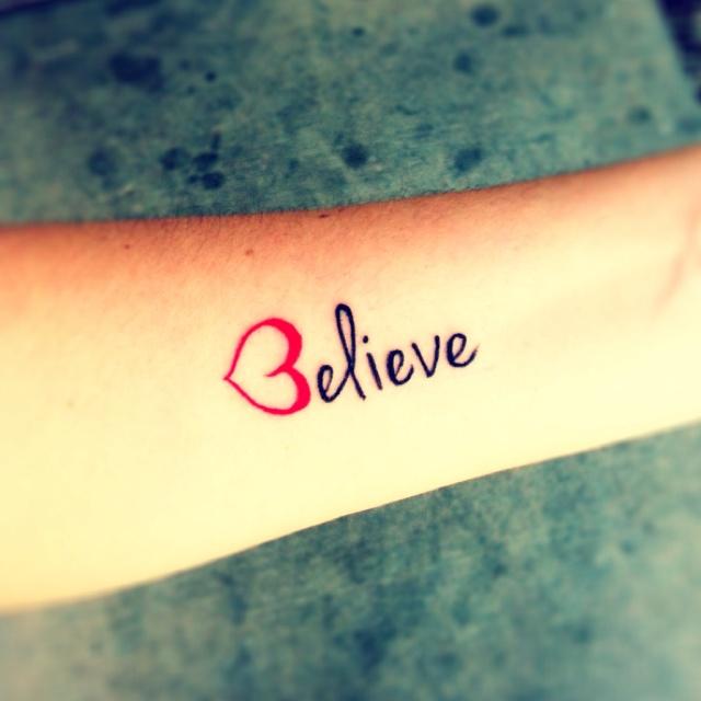 Loveee It!!!!Tattoo Letters, Tattoo Ideas, Tattooideas, Believe Tattoo, Body Art, Beautiful Tattoo, Simple Tattoo, Tattoo Ink, Cute Tattoo