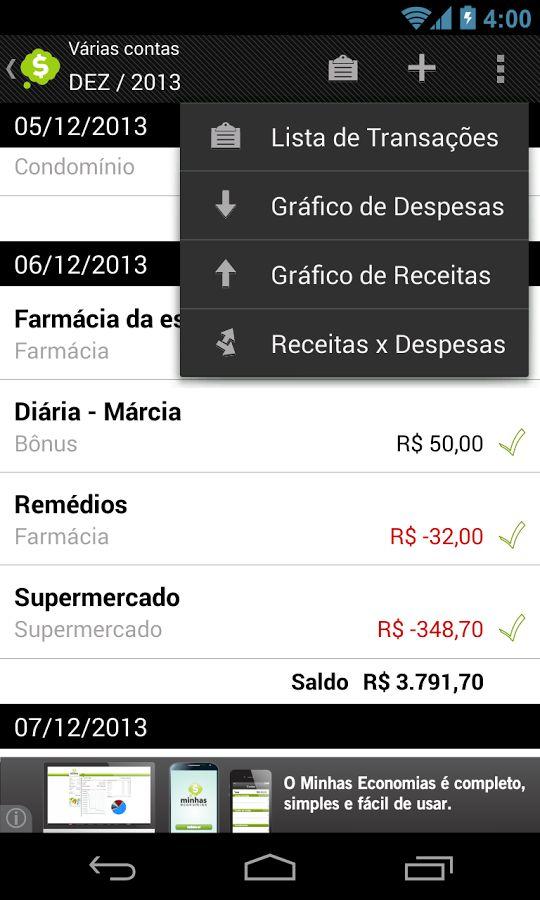 Assuma o controle de suas finanças. Confira o gerenciador do Minhas Economias: www.meus365dias.com  #financas #seubolso #aplicativos