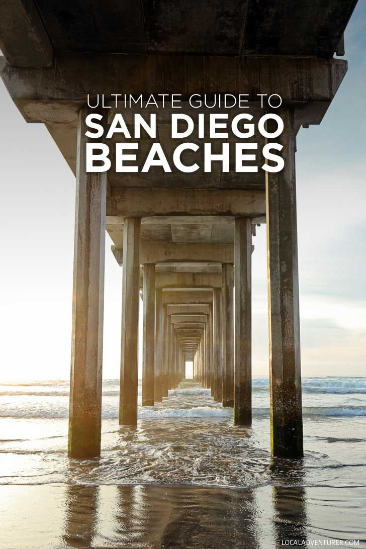 San Francisco Map Beaches%0A Ultimate Guide to San Diego Beaches  SD Bucket List
